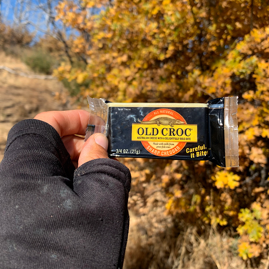 Hikers crave fat, especially cheese.
