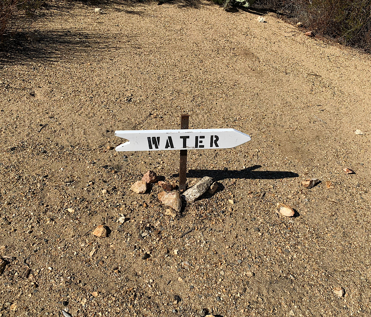 It was usually  long walk off-trail to get water in the desert.