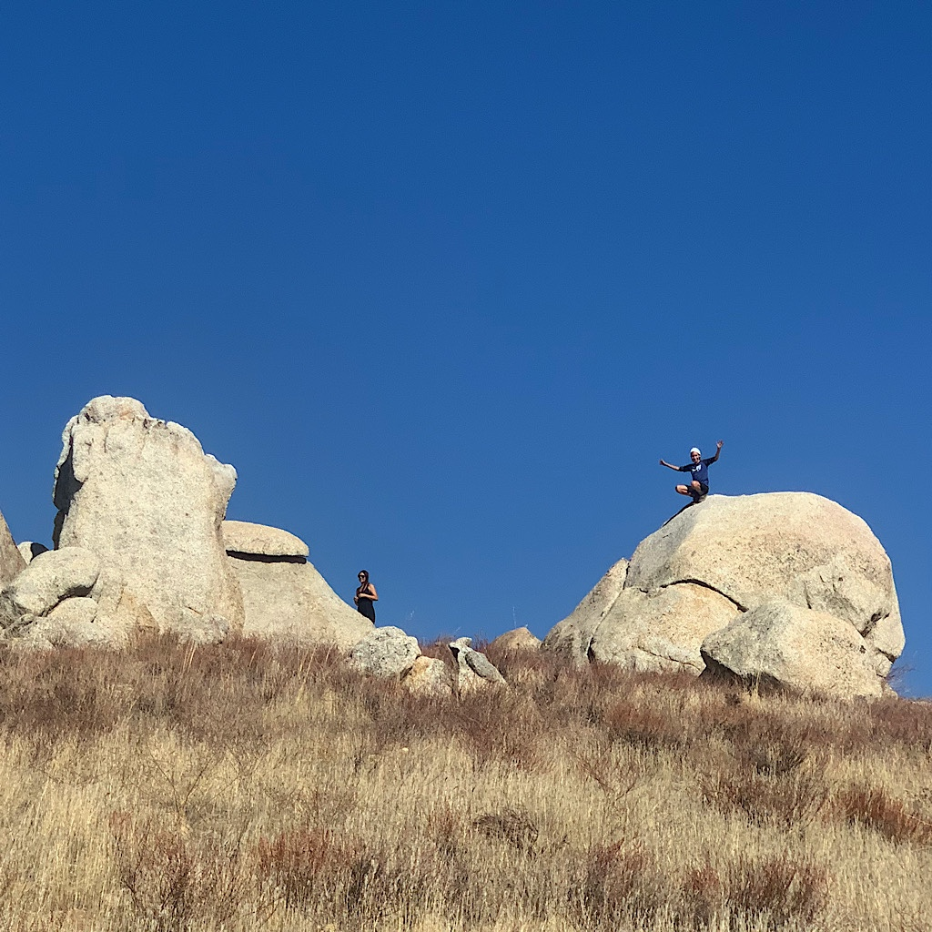 Eagle Rock is a local hangout on the PCT near Warner Springs.