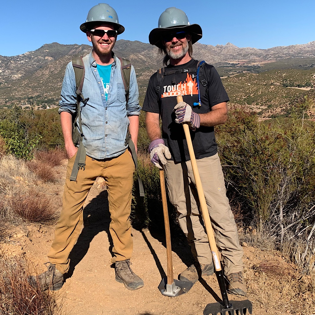 Happy trail workers in the desert of Southern California.