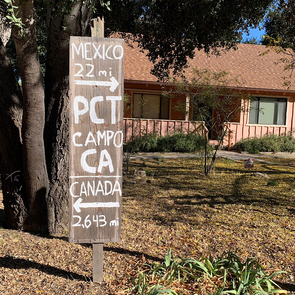A sign near the Lake Morena campground puts things in perspective.