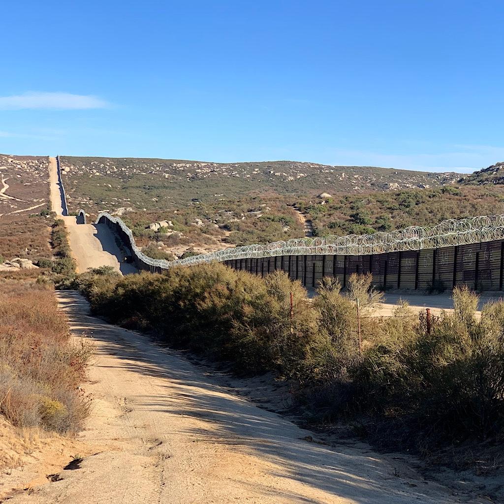 Razor wire at the US Mexican border.