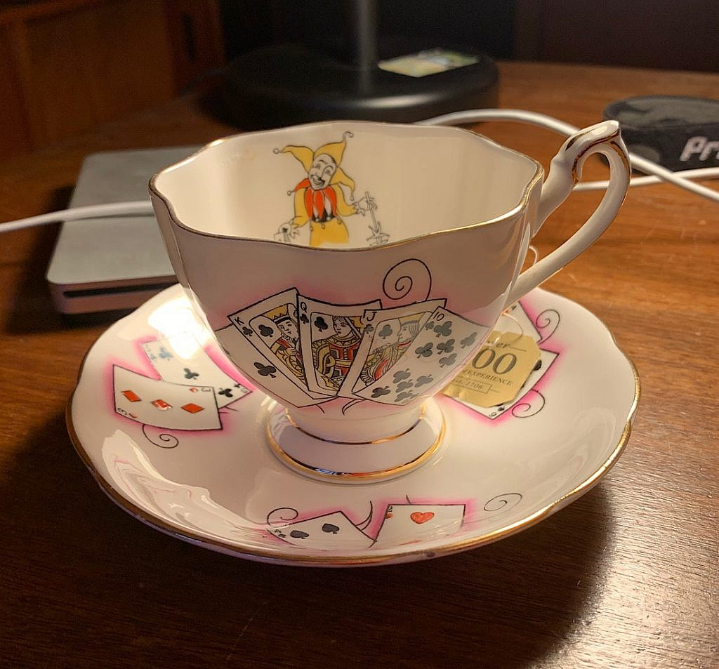 This delicate tea cup seems appropriate right now.
