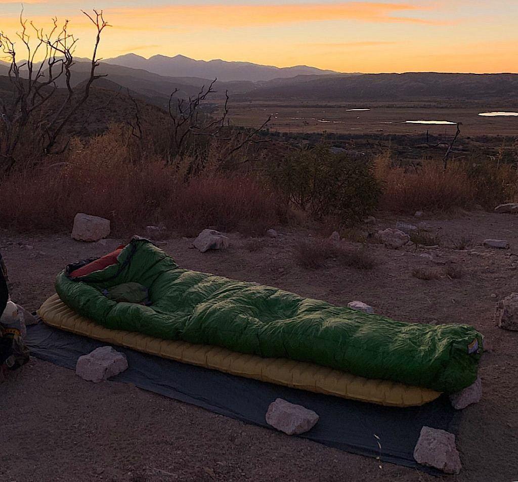 Big Greenie is a bit bulkier than the quilt and weights two pounds, but is well worth it.