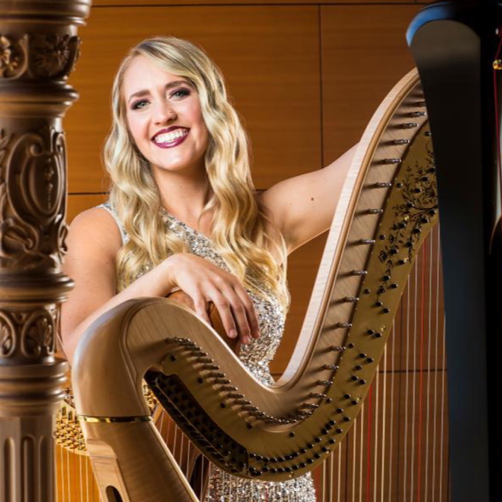 Harp playing is indeed glamorous, but Emily Granger doesn't mind the grittiness of tramping.