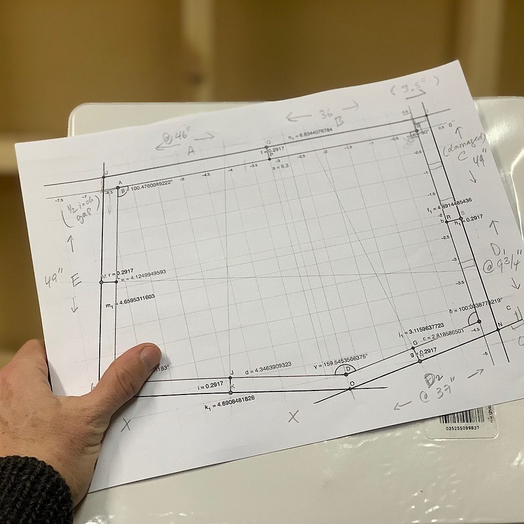 Hand-designed plans for the Blisstudio professional voice recording booth.