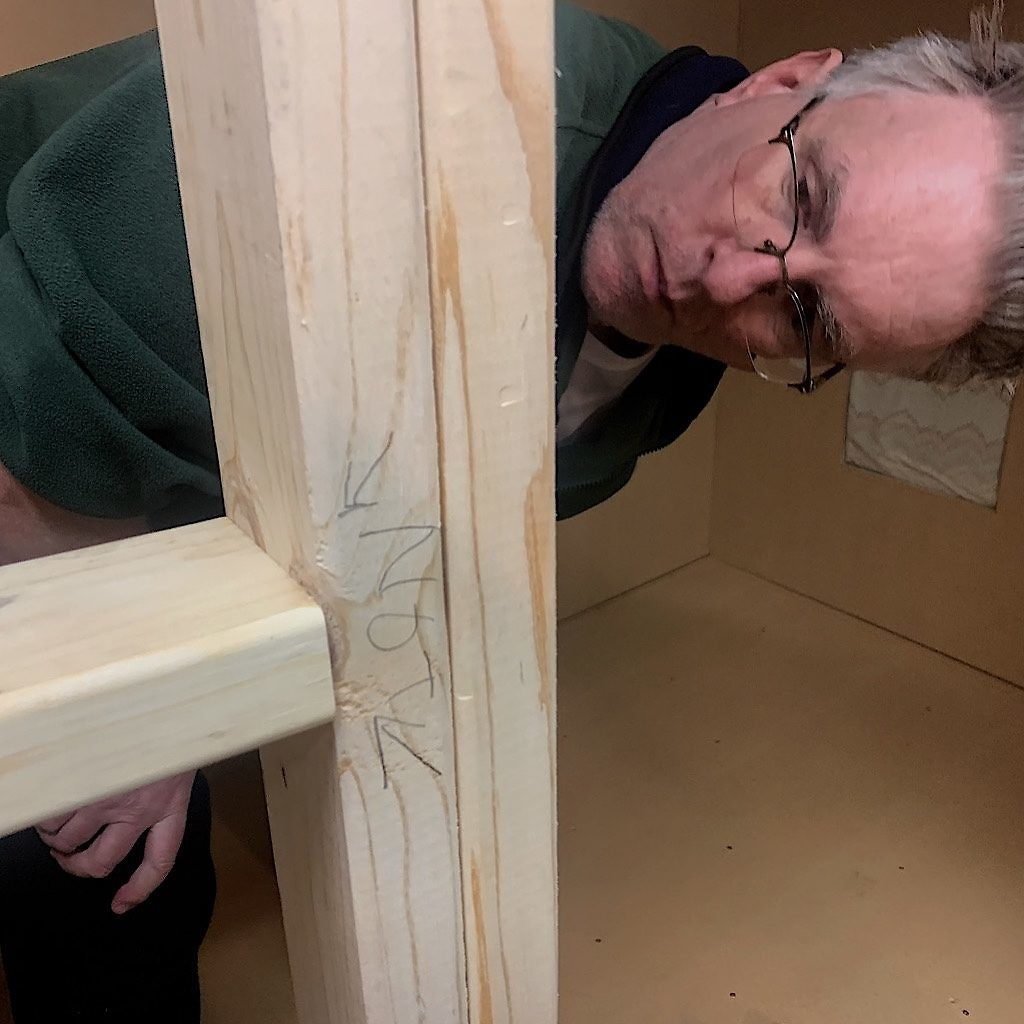 Oftentimes, we had to write on the walls to remind ourselves where to put screws – and where not to.