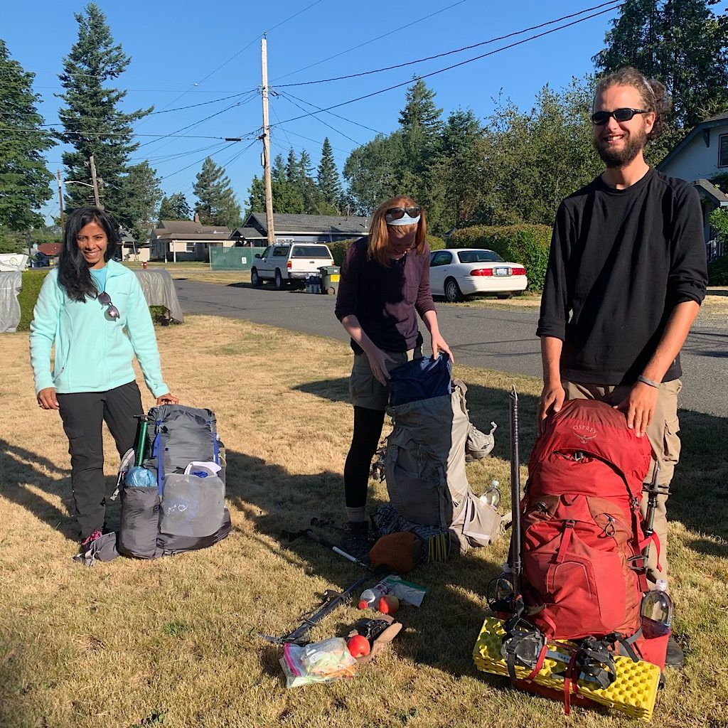 Melinda and Henry, along with Divya and me, were hosted by trail angels in Bellingham before setting off on the PCT from Hart's Pass.