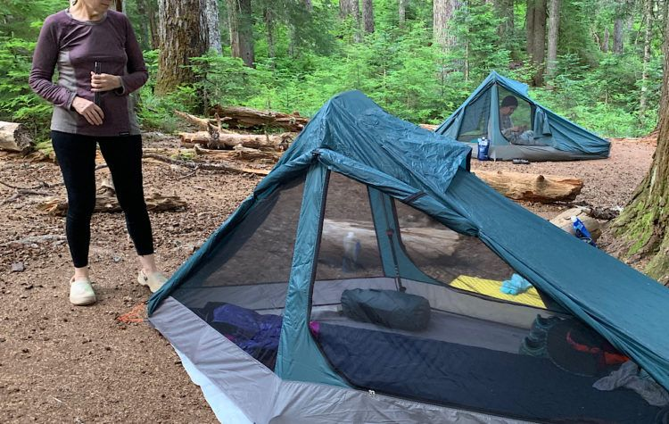 "Judy met a guy with a much lighter tent while hiking the Appalachian Trail and it was not a ""coffin"" but rather, a palace. That just pissed her off, so she went designed her own ultralight palace."