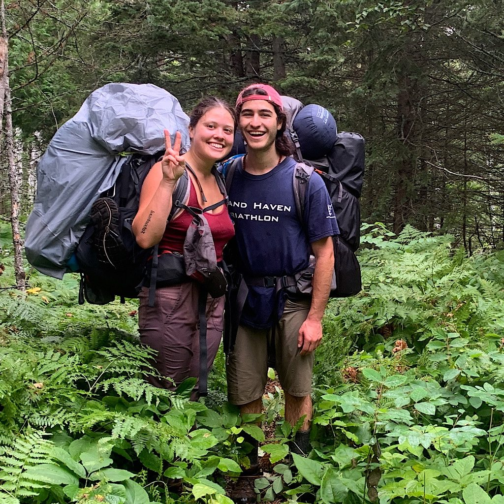 The first two hikers I passed on the trip. They told me they hadn't seen anyone for days.