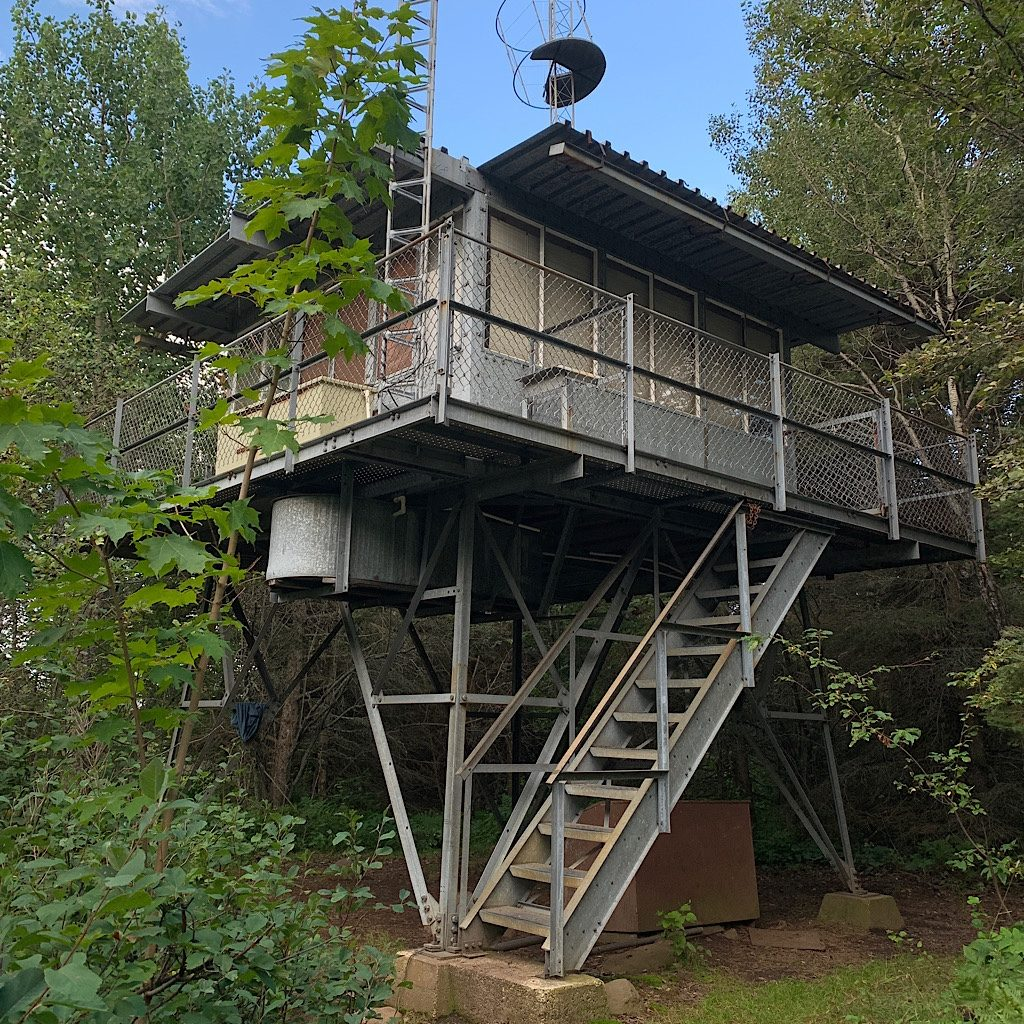 The 'lookout' at Ishpeming gets one closer to the leaves.