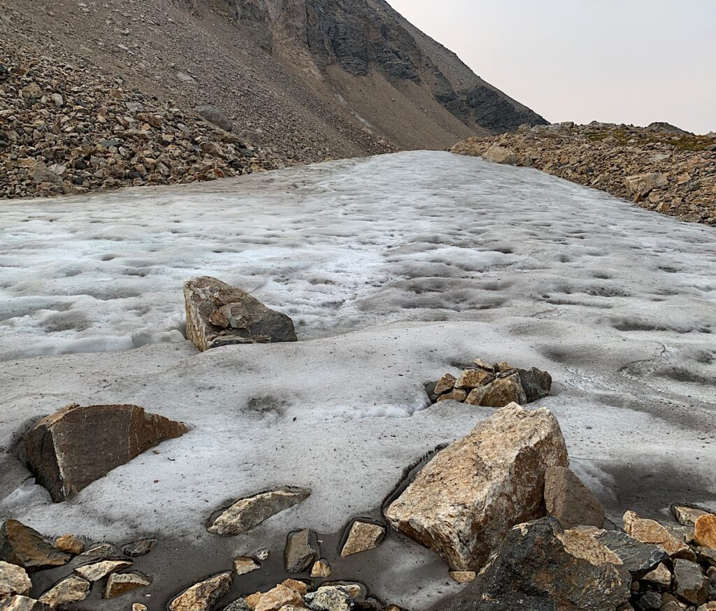 Ice at the lake.
