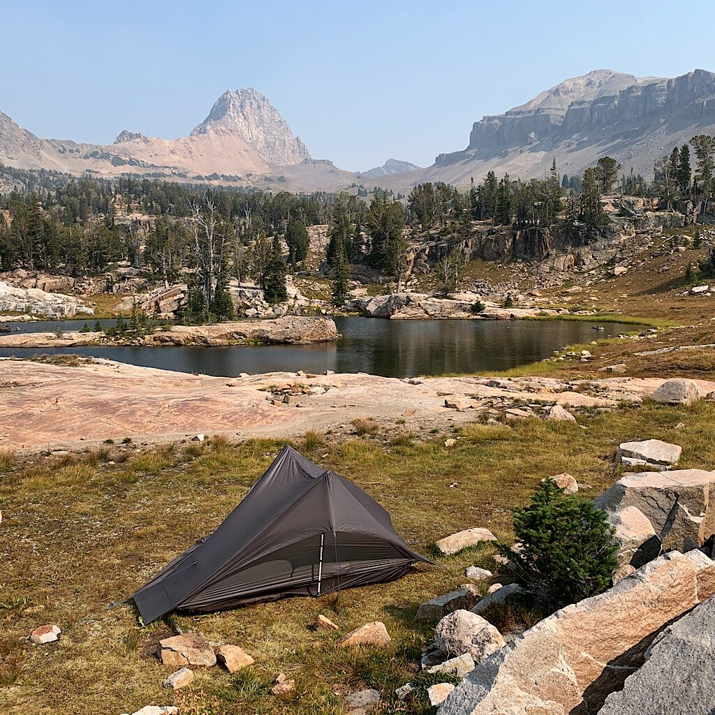 The soulful site at one of the basin lakes.