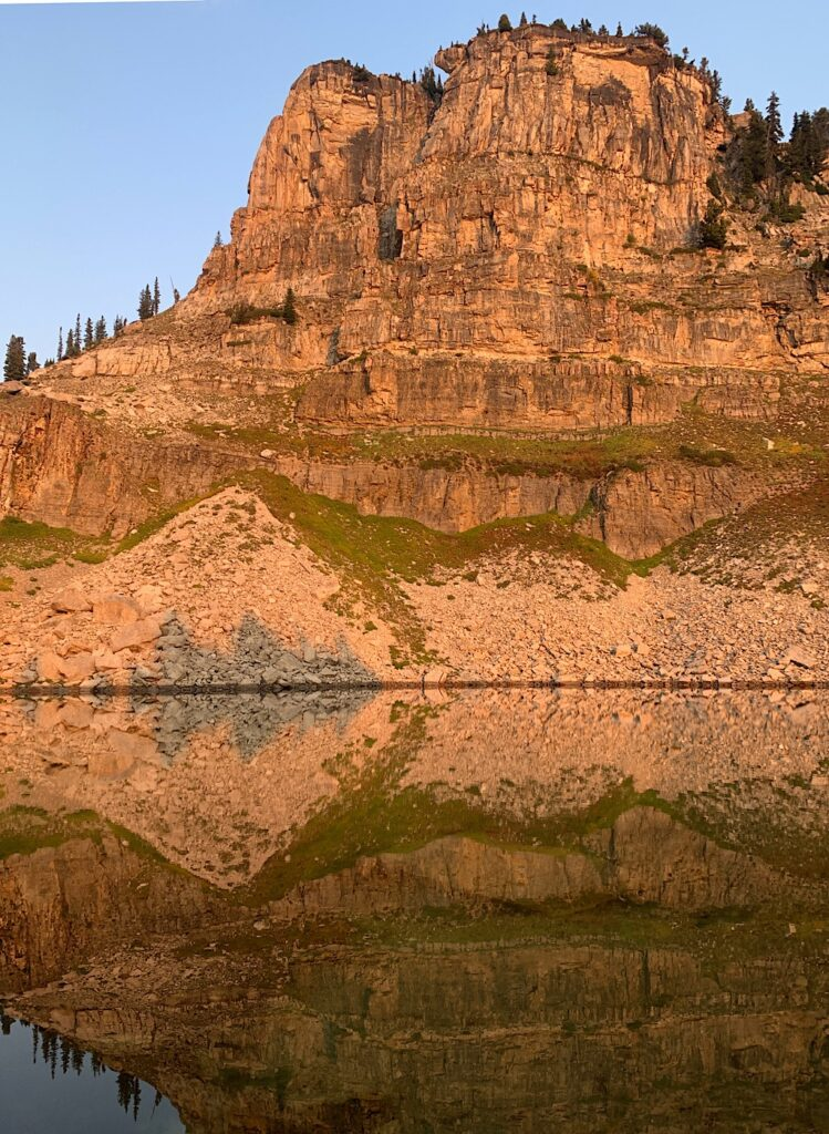 Morning reflection in Lake Marion.