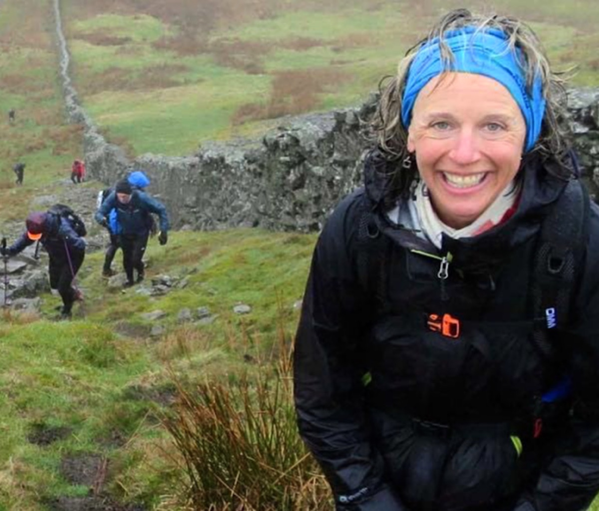 In a downpour on Gragareth during the Fellsman Ultramarathon in the Yorkshire Moors.